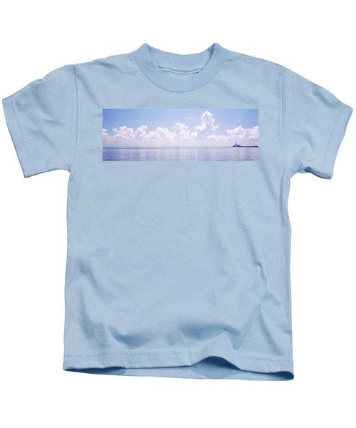 Seascape With A Suspension Bridge Kids T-Shirt