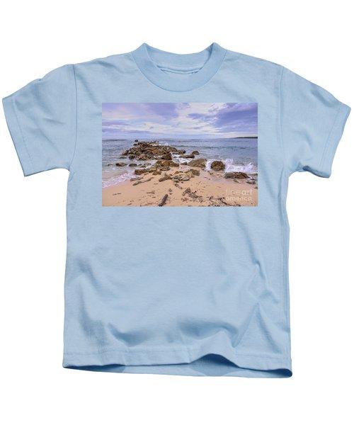 Seascape With Rocks Kids T-Shirt