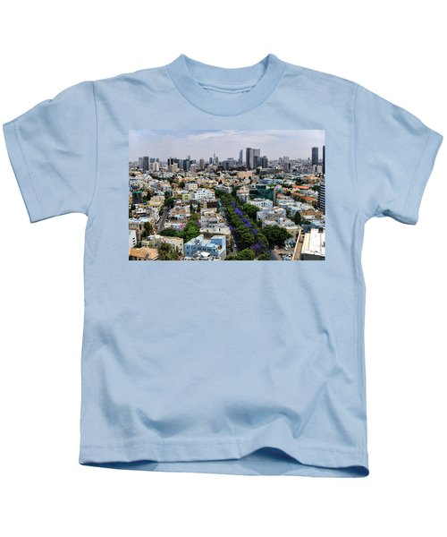 season change at Rothschild boulevard  Kids T-Shirt