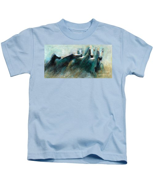 Shades Of Blue Kids T-Shirt