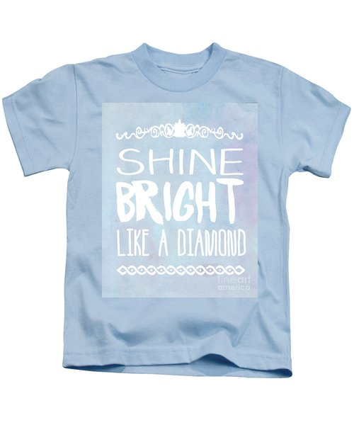 Shine Bright Blue Kids T-Shirt by Pati Photography