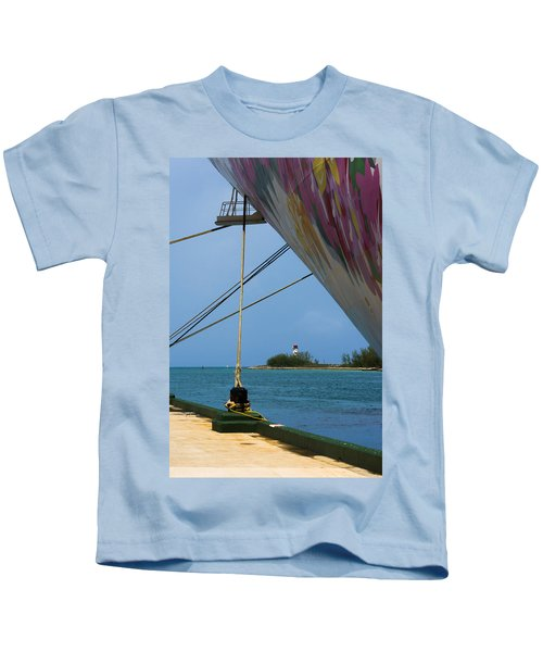 Ship's Ropes And Lighthouse Kids T-Shirt