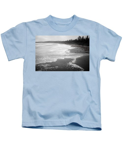 Winter At Wickaninnish Beach Kids T-Shirt
