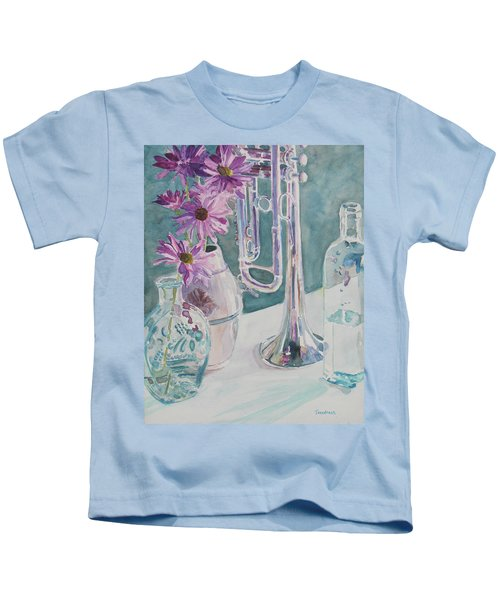 Silver And Glass Music Kids T-Shirt