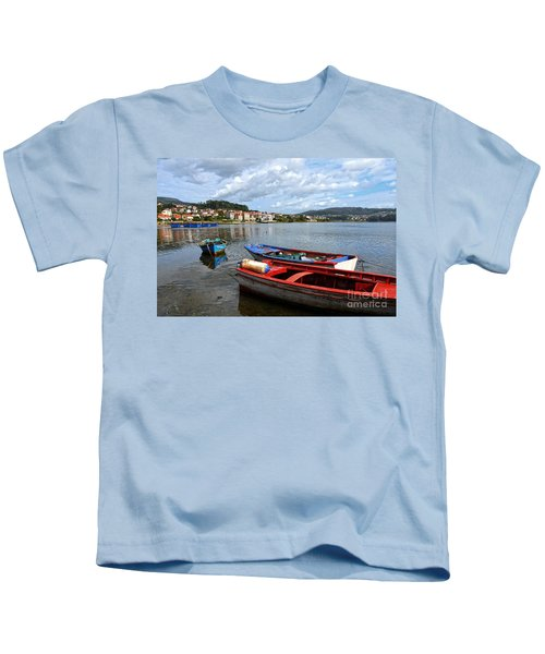 Small Boats In Galicia Kids T-Shirt