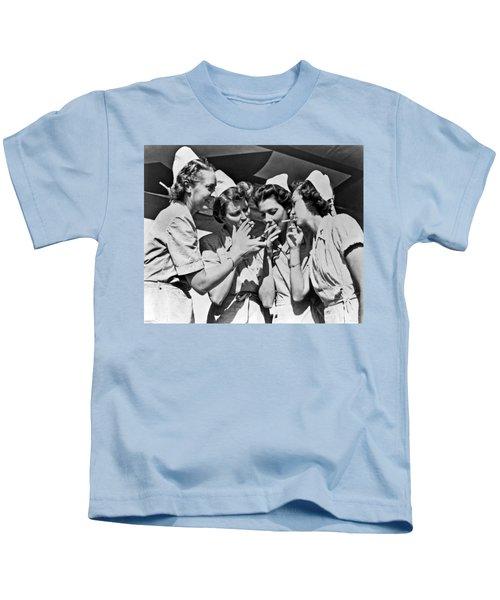Smoking Army Nurses Kids T-Shirt