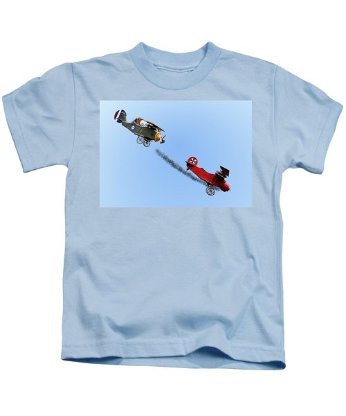 Snoopy And The Red Baron Kids T-Shirt