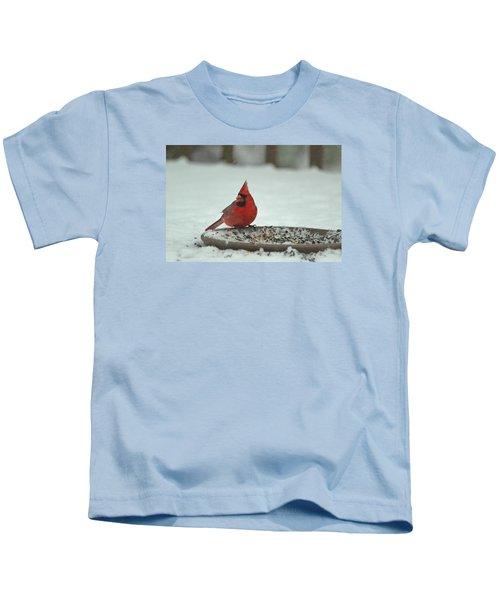 Snow Cardinal Kids T-Shirt