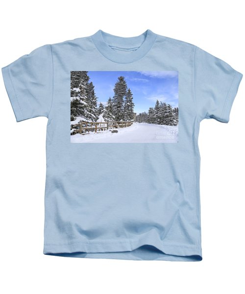 Snow Path Kids T-Shirt