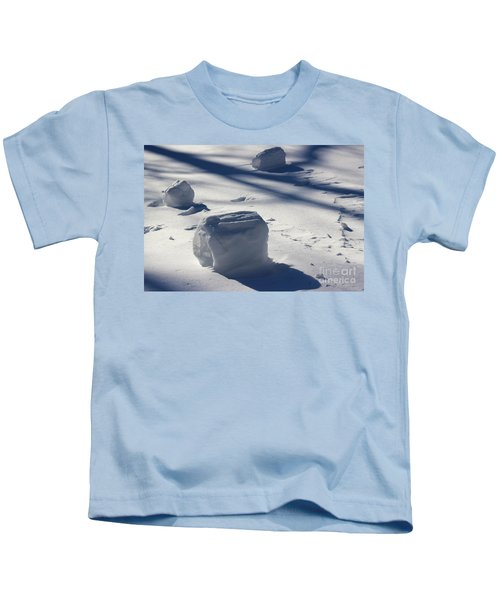Snow Roller Trio In Shadows Kids T-Shirt