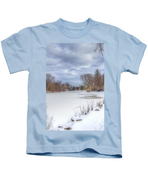 Snowy Lake Kids T-Shirt