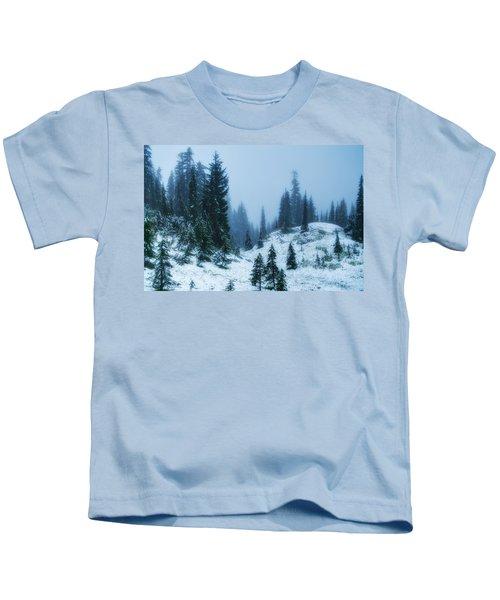 Snowy Paradise Kids T-Shirt
