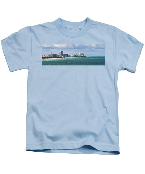 South Beach On A Summer Day Kids T-Shirt