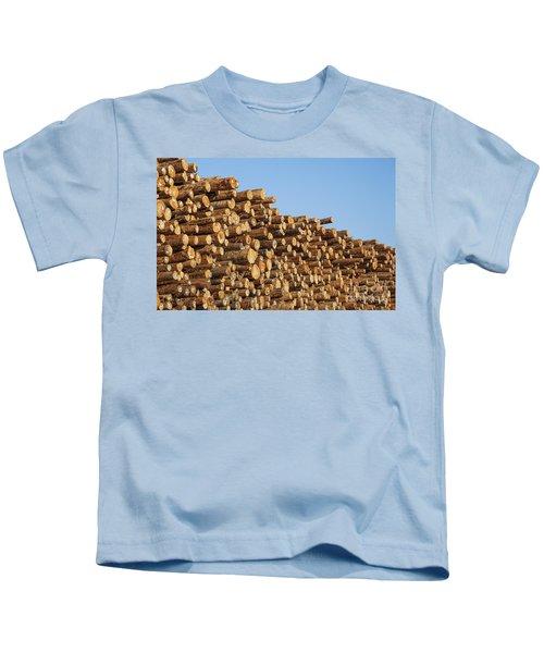 Stacks Of Logs Kids T-Shirt