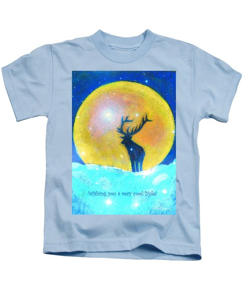 Stag Of Winter Kids T-Shirt