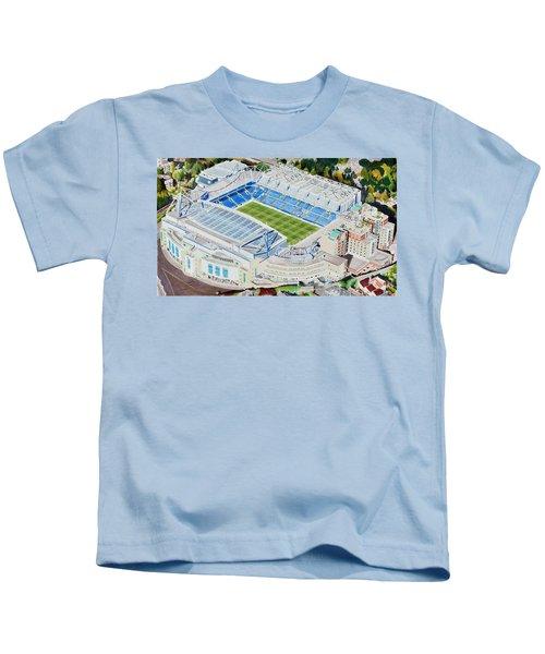Stamford Bridge Stadia Art - Chelsea Fc Kids T-Shirt