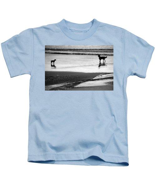 Standoff At The Beach Kids T-Shirt