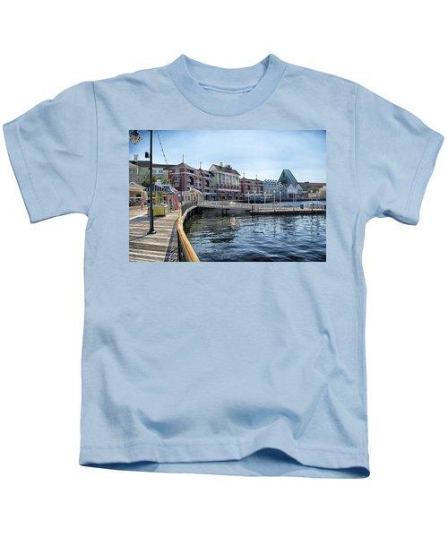 Strolling On The Boardwalk At Disney World Kids T-Shirt