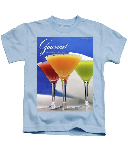 Summer Cocktails Kids T-Shirt by Romulo Yanes