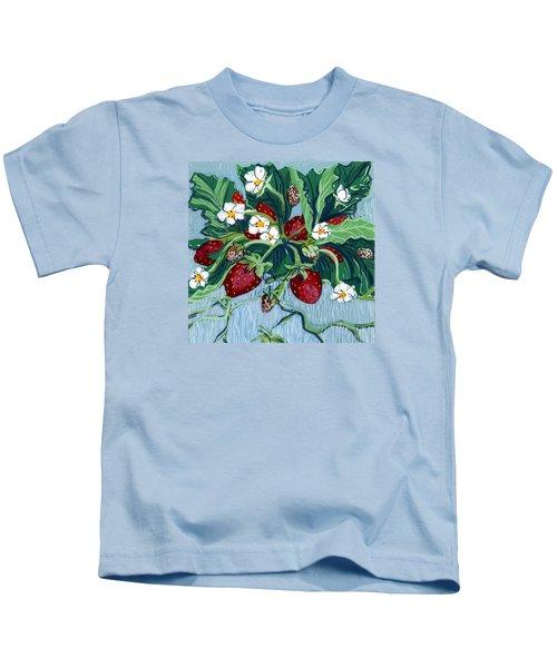 Summer Strawberries Kids T-Shirt