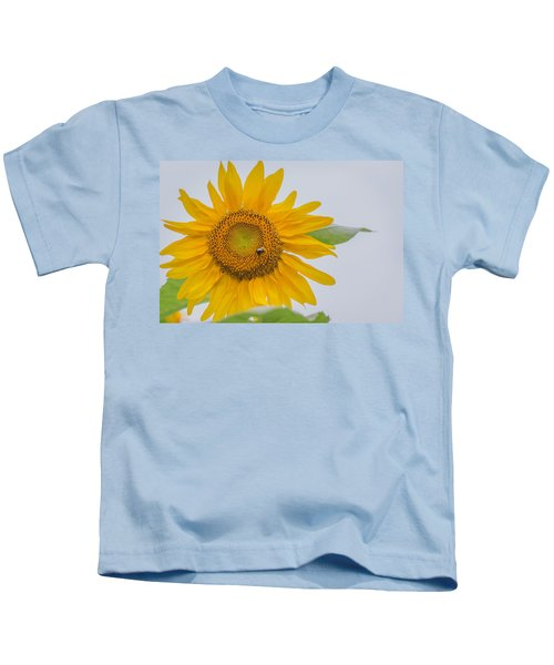 Sunflower And Bee Kids T-Shirt