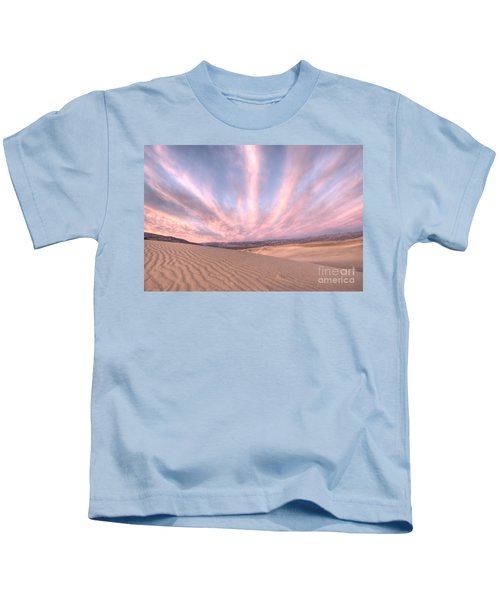 Sunrise Over Sand Dunes Kids T-Shirt by Juli Scalzi
