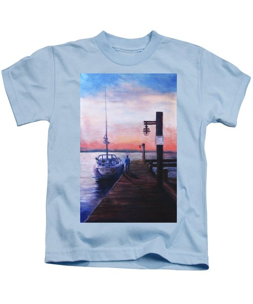 Sunset At Rocky Point Kids T-Shirt