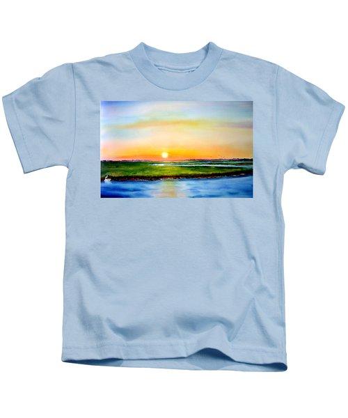Sunset On The Marsh Kids T-Shirt
