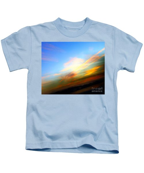Sunset Reflections - Abstract Kids T-Shirt