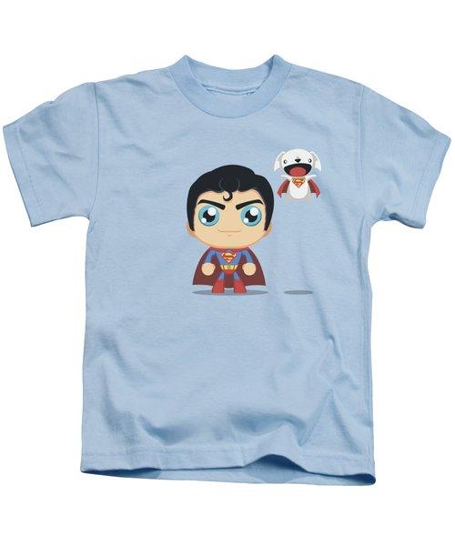 Superman - Cute Superman Kids T-Shirt by Brand A