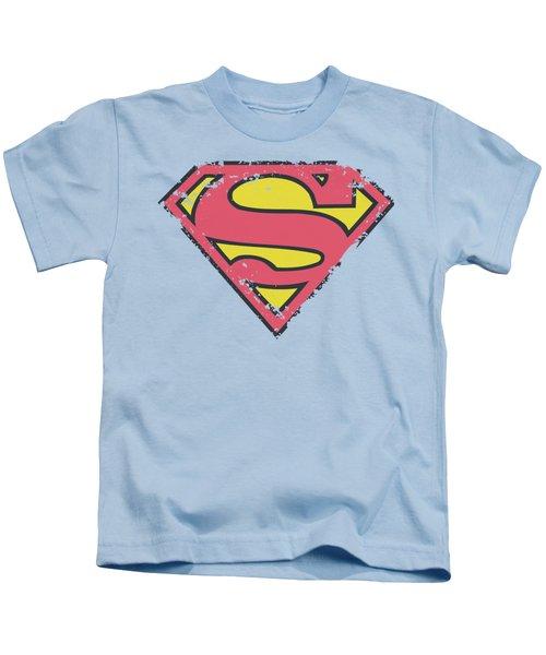 Superman - Distressed Shield Kids T-Shirt