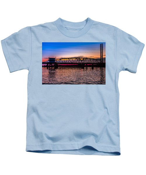 Surf City Swing Bridge Kids T-Shirt