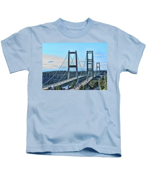 Tacoma Narrows Bridge 51 Kids T-Shirt