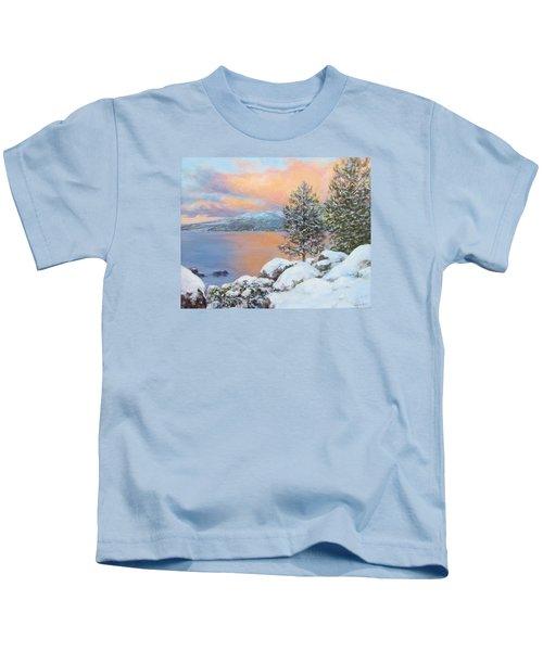 Tahoe Winter Colors Kids T-Shirt