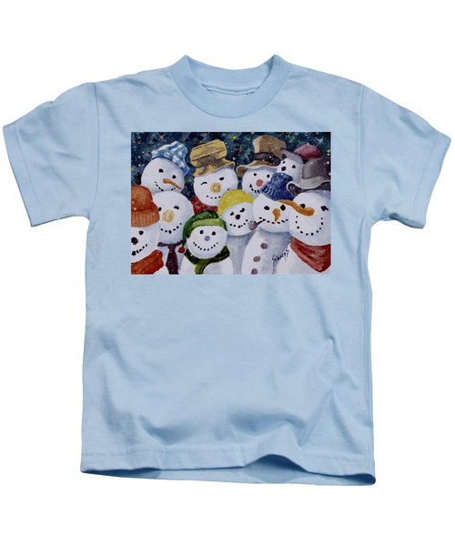 Ten Little Snowmen Kids T-Shirt