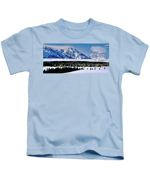 Teton Valley Winter Grand Teton National Park Kids T-Shirt