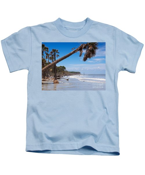 The Beach At Hunting Island State Park Kids T-Shirt