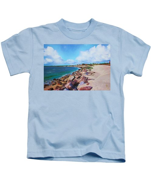 The Beach At Ponce Inlet Kids T-Shirt