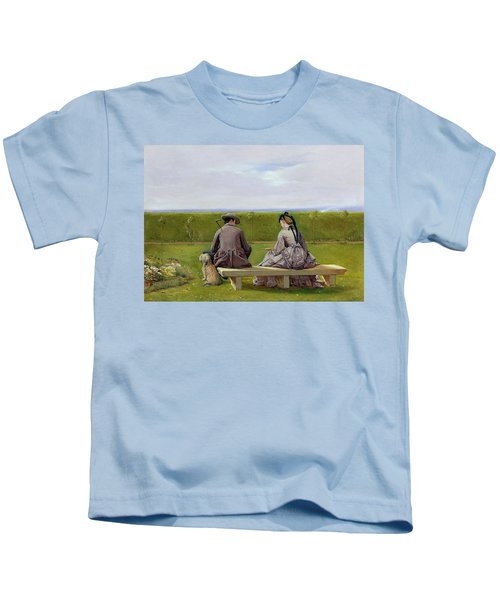 The Bench By The Sea Kids T-Shirt