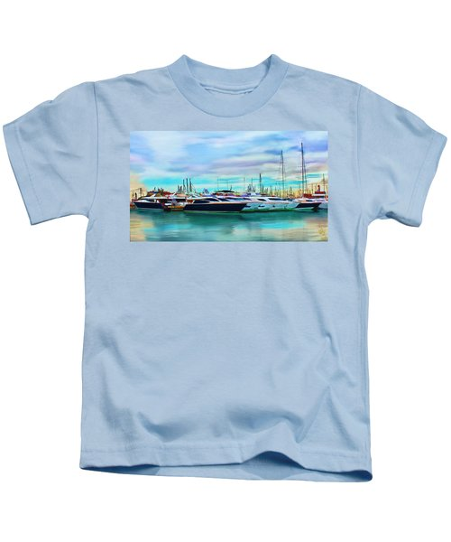 The Boats Of Malaga Spain Kids T-Shirt