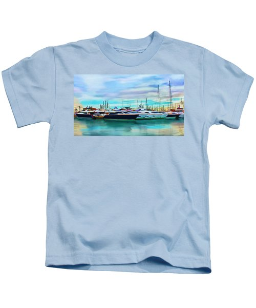 The Boats Of Malaga Spain Kids T-Shirt