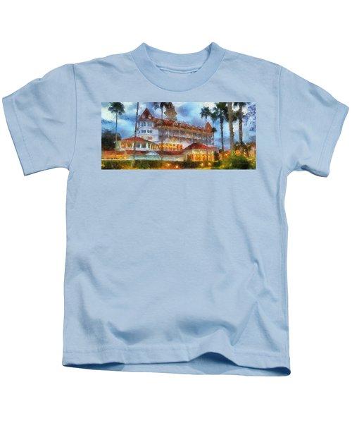 The Grand Floridian Resort Wdw 01 Photo Art Kids T-Shirt