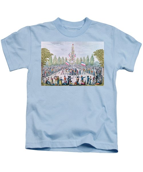 The Plantation Of A Liberty Tree During The Revolution, C.1792 Wc On Paper Kids T-Shirt