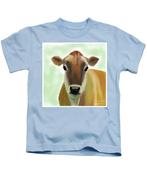 The Pretty Jersey Cow  Kids T-Shirt