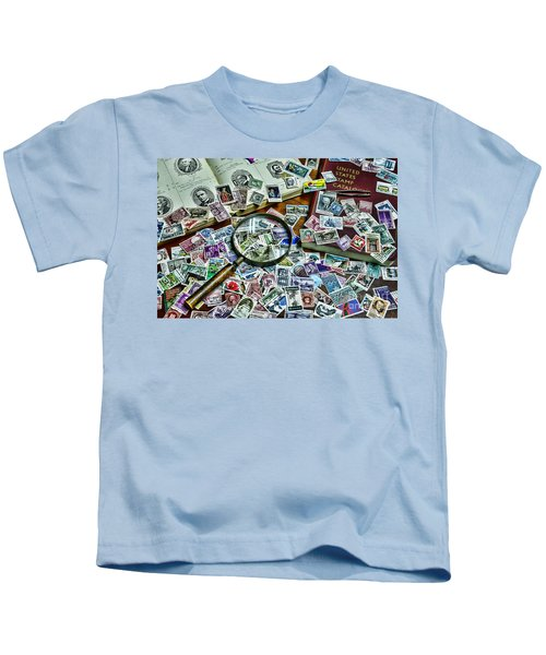 The Stamp Collector Kids T-Shirt