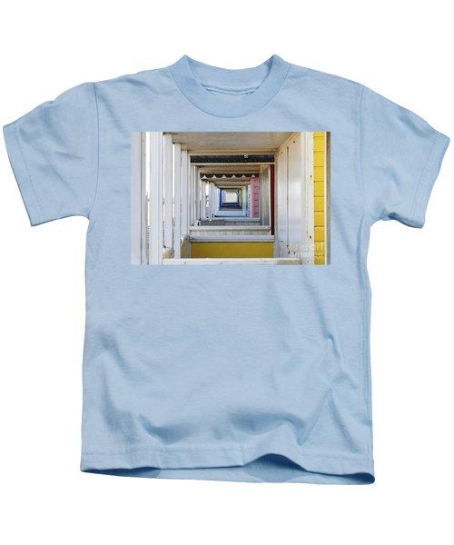 Through The Beach Huts Kids T-Shirt