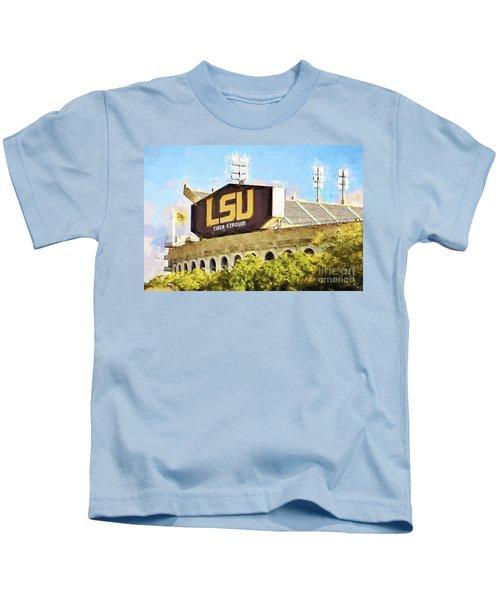 Tiger Stadium - Bw Kids T-Shirt