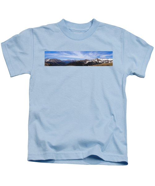 Top Of Independence Pass Panorama Kids T-Shirt