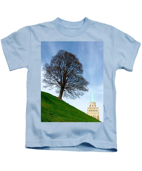 Tree On A Hill Kids T-Shirt