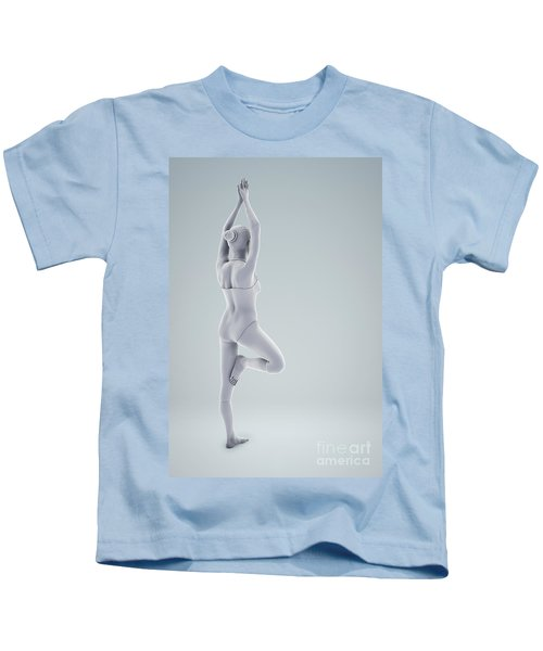 Tree Yoga Pose Kids T-Shirt